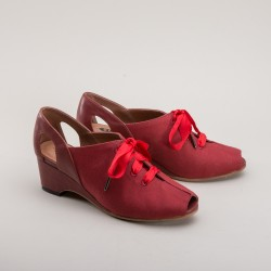 Daphne Wedge Sandals - Red
