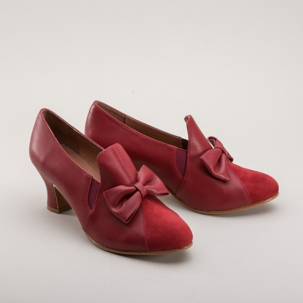 Maria - 1920s Court shoe - Red