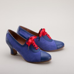 Poppy 1930s Oxfords - Blue