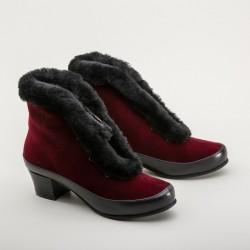 Aspen - Velveteen carriage boots - Red
