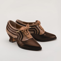 PREORDER Bernadette Edwardian Ladies Oxford Shoe - Tan/Brown