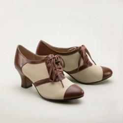 Evelyn - Spectator Oxfords Brown/Tan