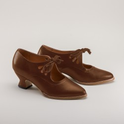 PREORDER Gibson Edwardian Ladies Shoes - Tan