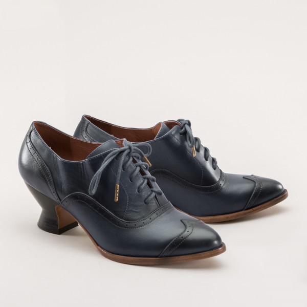 PREORDER Londoner Edwardian Oxford Ladies Shoes - Slate Blue
