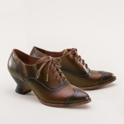 PREORDER Londoner Edwardian Oxford Ladies Shoes - Tan