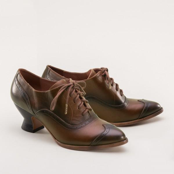 PREORDER Londoner Edwardian Oxford Ladies Shoes - Tan