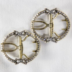 Charlotte Shoe Buckles - Clear