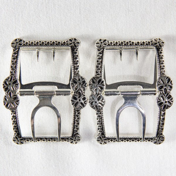 Forget-Me-Not Shoe Buckles